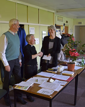 thanking Julie for her time as church warden
