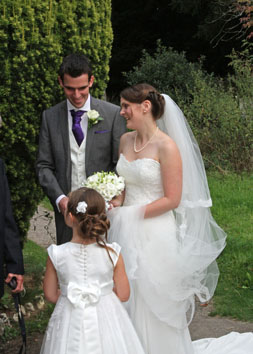 A wondeful wedding at All Saints' Church Warlingham